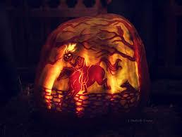 raven pumpkin pattern artofthepumpkin