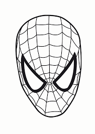 spideman outline clip art library