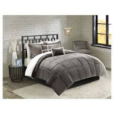 Bedding Set Broken Stripe Faux Fur Bedding Set Target