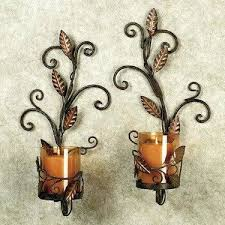 Wall Sconce Set Of 2 Sconce Candle Wall Sconce Set Of 2 Contemporary 2 Piece Metal