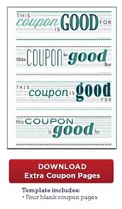 voucher book template best 25 coupon books ideas on pinterest