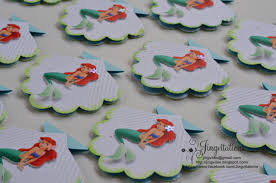 little mermaid princess ariel seashell birthday invitations