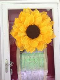 sunflower mesh wreath diy deco mesh flower wreath paper mesh sunflower wreath made by