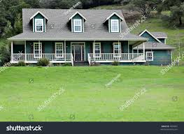 large house country dormer windows wraparound stock photo 1870667
