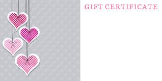 certificate anniversary gift certificate template