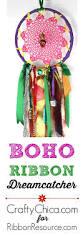 boho ribbon dreamcatcher crafty chica