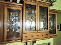 Glass Designs For Kitchen Cabinets Awesome Beveled Cabinet Glass Inserts Roy Residence Traditional