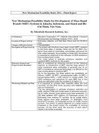 jakarta 2017 mitsubishi to export mrt feasibility study jakarta environmental impact assessment