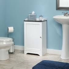 White Bathroom Shelving Unit by Sauder Caraway Floor Cabinet Only 29 99 Reg 60 99 Small