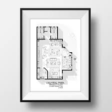 742 Evergreen Terrace Floor Plan Central Perk Cafe Floor Plan Friends Tv Show Layout By Drawhouse