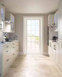 Small Kitchen Ideas With Island Great Rectangular White Marble Island Frosted Glass Door Wall