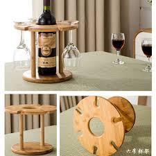 high quality fashion bar red wine rack wooden wine bottle holder