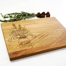 personalised cutting board flowers in vase personalised cutting board by gift store