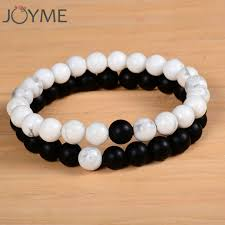 bracelets for 2pcs set couples distance bracelet with 100 white