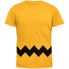 amazon com halloween yellow zig zag costume t shirt clothing