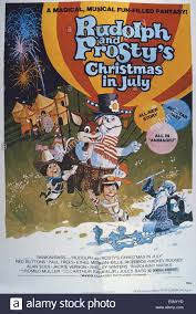 rudolph and frosty u0027s christmas in july us poster in basket from