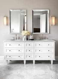 White Bathroom Vanity Mirror The Design Company Bathrooms White And Gray Bath White And