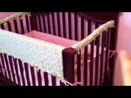 no sew homemade crib rail teething guard diy youtube