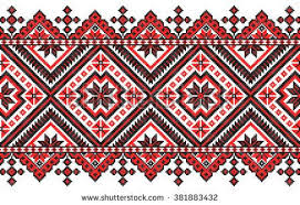 ukraine pattern vector embroidered good like old handmade cross stitch ethnic ukraine