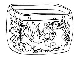 draw fish tank coloring netart