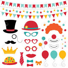photo props circus photo booth props and decoration royalty free cliparts