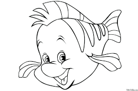 flounder coloring pages mermaid pictures