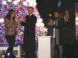 president obama lights national christmas tree 2013 youtube