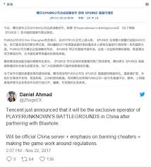 pubg official release tencent wins rights to officially release playerunknown s