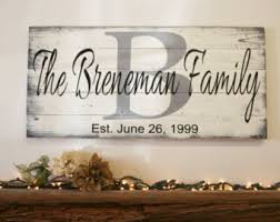 Personalized Wood Signs Home Decor Name Sign Initial Sign Personalized Sign Pallet Sign Wedding Gift