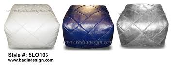 Leather Moroccan Ottoman by Poufs And Ottomans Moroccan Furniture Los Angeles