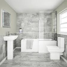 Shower Bathroom Edge Modern Shower Bath Suite From Plumbing Co Uk