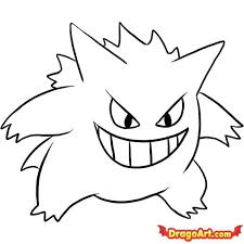 how to draw coloring pages how to draw gengar step by step pokemon characters anime draw