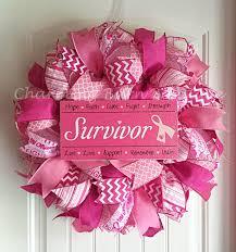 breast cancer wreath breast cancer awareness wreath breast