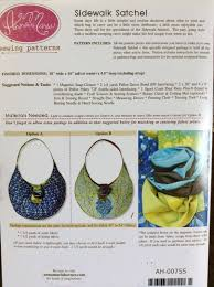 sewing patterns for home decor sidewalk satchel quilt purse pattern by anna maria sewing patterns