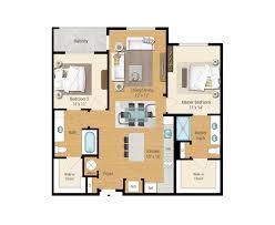 bedroom plan 1 2 and 3 bedroom floor plans aqua on the levee