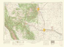 Topographical Map Of United States by Old Topographical Map Pueblo Colorado 1966