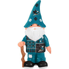 forever collectibles nhl real sweater gnome san jose sharks
