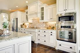 granite countertop wall cabinets white latest backsplash trends