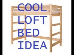 Free Bunk Bed Plans Woodworking by Space Efficient Room Idea Diy Loft Bed Youtube