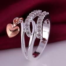 verlobungsring gr e 925 sterling silver herz ring fingerring größe 8 klassische