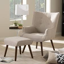 baxton studio nola mid century beige brown fabric upholstered