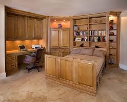 Bookcase Murphy Bed Pleasing Murphy Bed With Decorating Ideas Guest Room Wall Bookcase