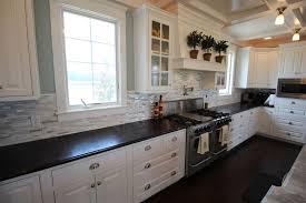 French Blue And White Ceramic Tile Backsplash 25 Stylish Galley Kitchen Designs Designing Idea