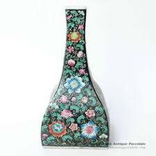 Reproduction Chinese Vases 13 4 U2033 Antique Chinese Porcelain Vase Flat Moon Shape With Handle