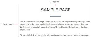 an example of chronological order differences between posts and pages u2013 edublogs help and support