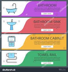 plumbing web banner templates set bathtub stock vector 710785288