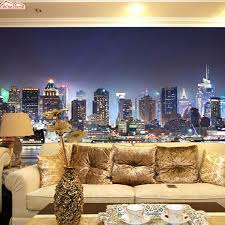 shinehome modern new york night city building mural rolls 3 d shinehome modern new york night city building mural rolls 3 d wallpaper for living room 3d wall paper roll papel de parede 3d in wallpapers from home