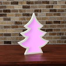 light up christmas tree lamp colour changing led sign by bel and