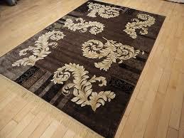 silk brown ice area rugs 5x8 modern rug dining room rugs brown