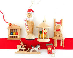 Wooden German Christmas Tree Decorations by Wood Tree Ornaments Etsy